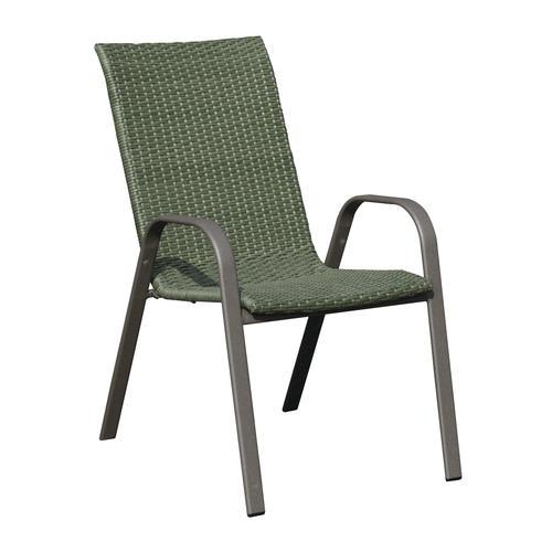 Backyard Creations® Larissa Wicker Stack Patio Chair at Menards