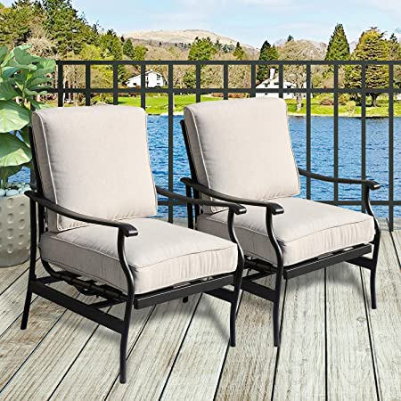 Amazon.com : PatioFestival Outdoor Chair Bistro Cushioned Rocking .