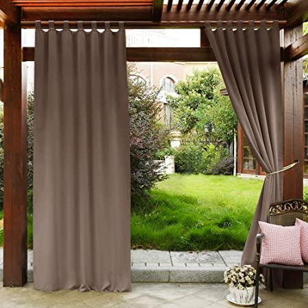 Amazon.com : PONY DANCE Patio Curtains Outdoor - Waterproof Garden .