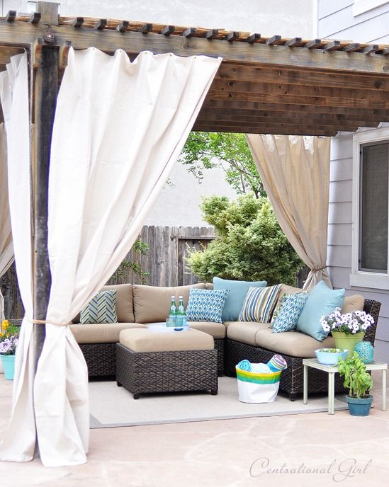One Day Outdoor Room Makeover | Centsational Style | Outdoor .