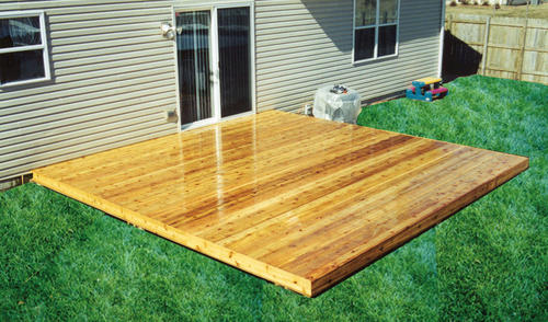8' x 8' Freestanding Patio Deck Material List at Menards