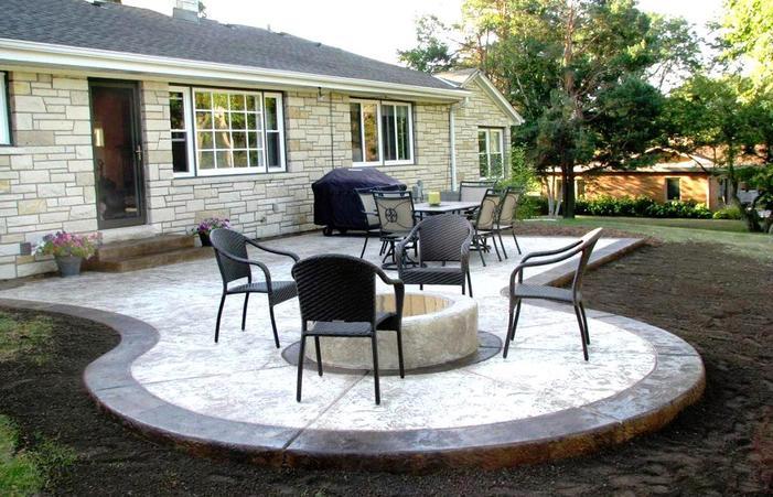 Glamorous Concrete Patio Design Ideas Backyard Home Keaorg Paint .