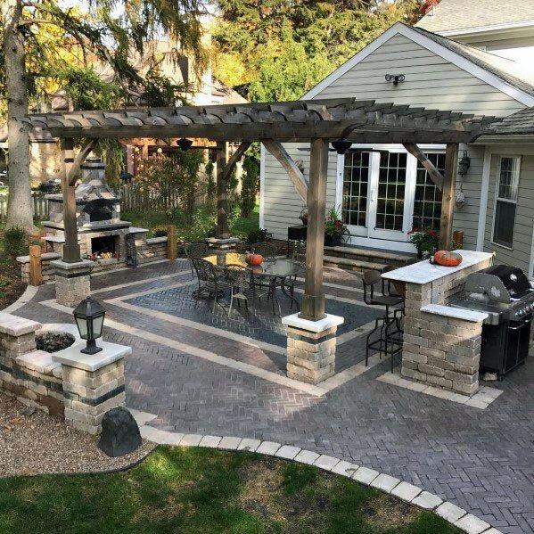 BLOCK PATIO DESIGN IDEAS ST | Patio, Backyard patio designs, Cozy .