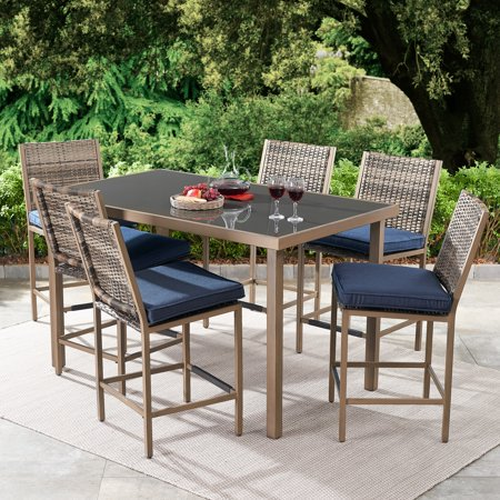 Better Homes & Gardens Gardenvale 7-Piece Outdoor Bar-Height Patio .