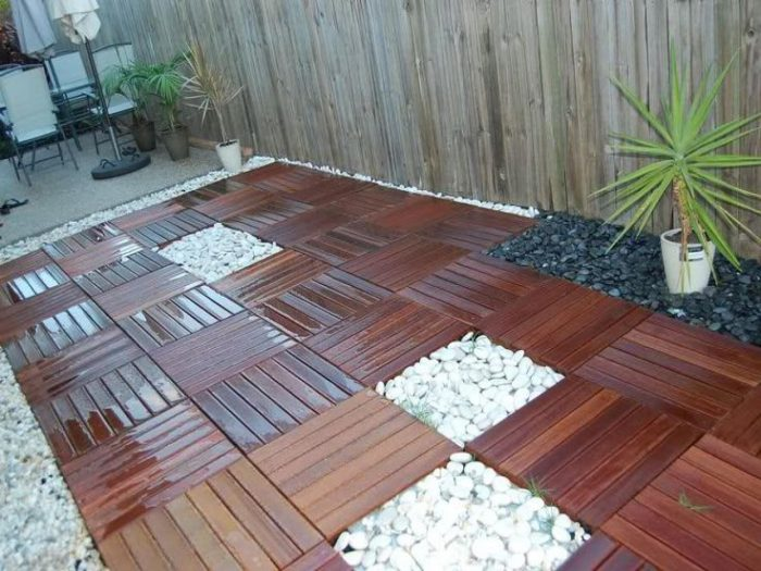 19+ Cheap Patio Floor Ideas | Outdoor Flooring Ideas - N
