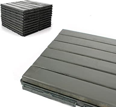 Amazon.com: Deck Tiles - Patio Pavers - Acacia Wood Outdoor .