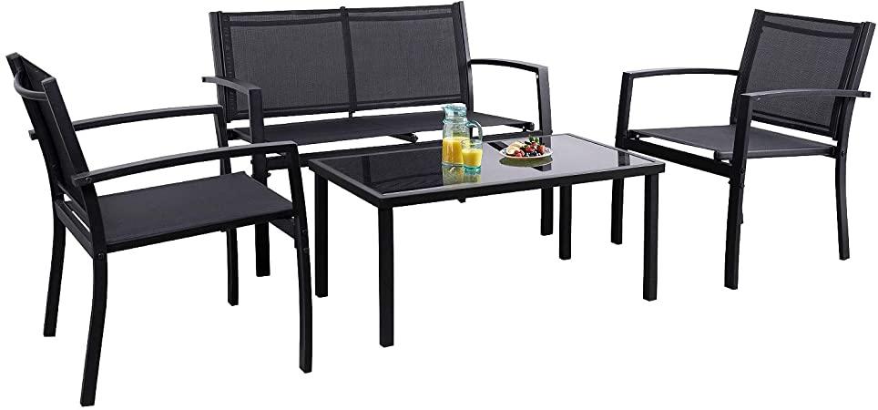 Amazon.com: Flamaker 4 Pieces Patio Furniture Outdoor furniture .