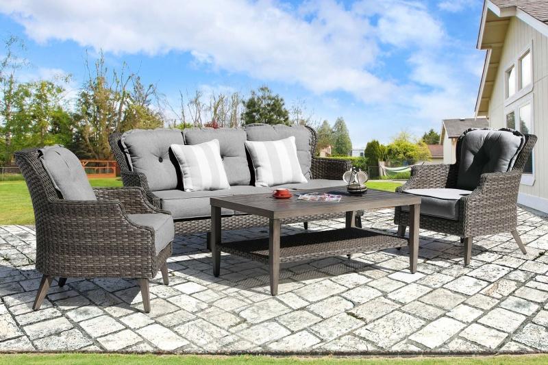 Tenaya Sofa Set | CLEARANCE Patio Furniture | Great Backyard Pla