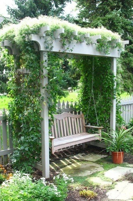 87 Cute and Simple Tiny Patio Garden Ideas | Garden swing, Garden .
