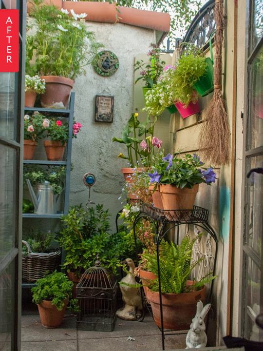 Before & After: Plain Patio to Secret Garden | Small patio garden .