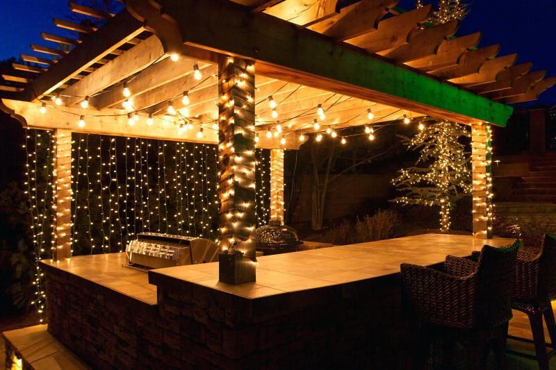 Covered Patio Lights | Diy outdoor lighting, Outdoor lighting .