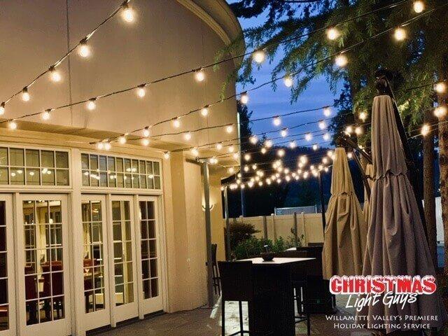 Commercial String Lights - Salem Oregon - Patio String Ligh