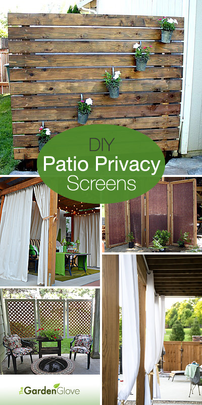 DIY Patio Privacy Screens • The Garden Glo