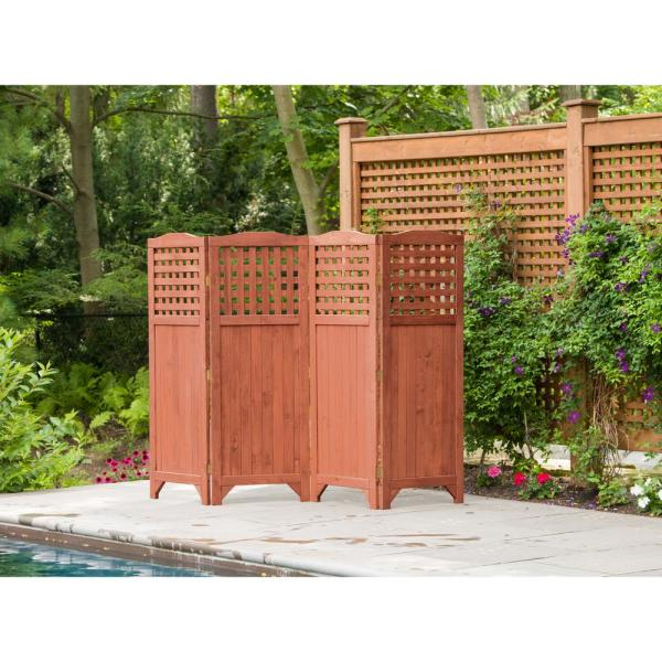 Leisure Season Folding Patio and Garden Privacy Screen-PS9662 .