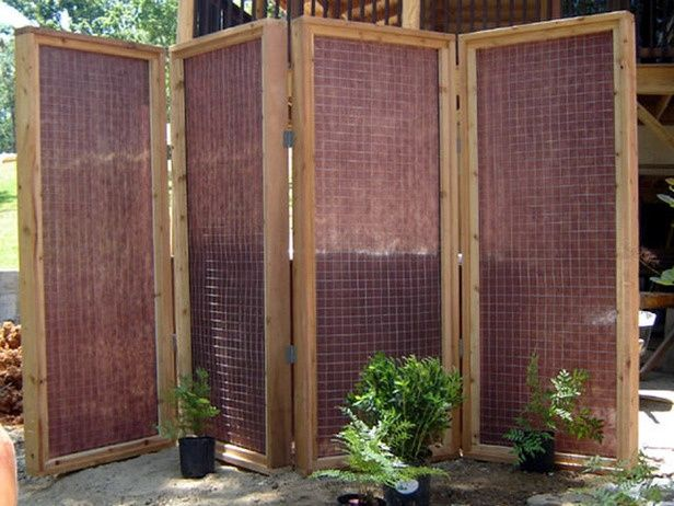 DIY Patio Privacy Screens | The Garden Glove | Hot tub outdoor .
