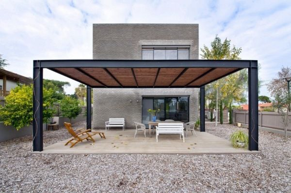 Covered terrace - 50 ideas for patio roof of modern houses .