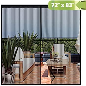 Magnetic Screen Door 72x 83 Inch, Heavy Duty Mesh Curtain Snap .