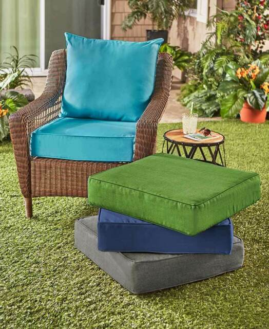 2pc Outdoor Deep Seat Cushion Set Patio Replacement Cushions .