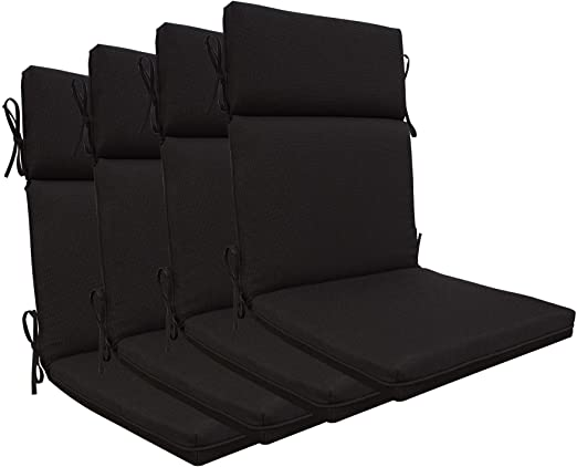 Amazon.com: BOSSIMA Indoor Outdoor High Back Chair Cushions .