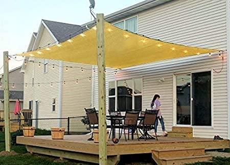 Amazon.com : Patio Sun Shade Sail Canopy, 8' x 12' Rectangle Shade .