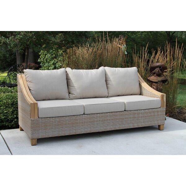 Kincaid Teak Patio Sofa with Sunbrella Cushions & Reviews | Joss .