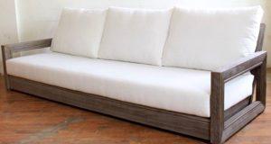 Brayden Studio® Constance Teak Patio Sofa with Cushions | Wayfa