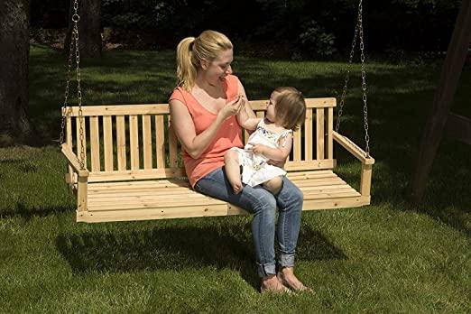 Amazon.com: Premium Porch Swing Patio Swings Outdoor Wooden 2 .