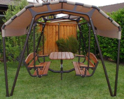 Pin by Moosie on For the Home | Patio swing set, Patio swing .