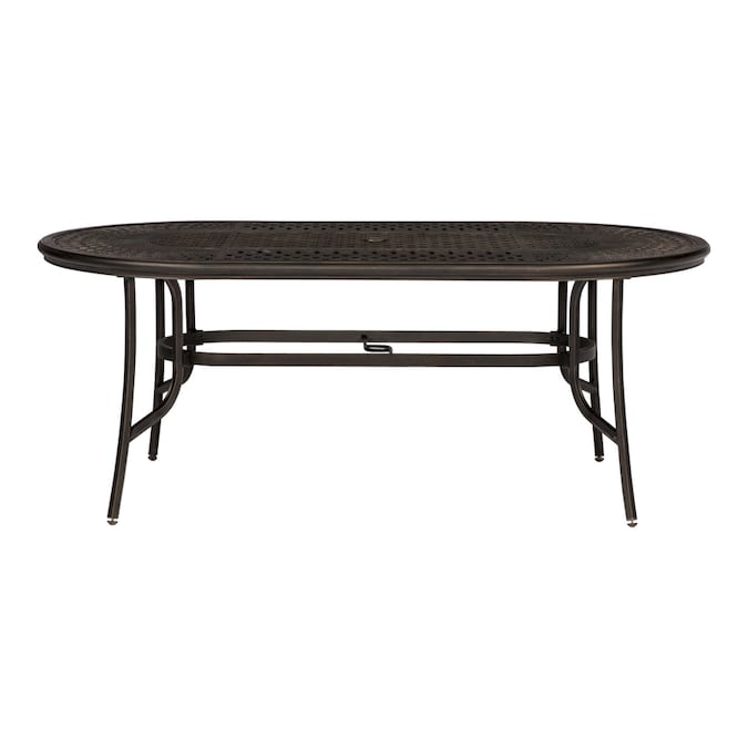 allen + roth - Queensbury Oval Outdoor Dining Table 41.73-in W x .