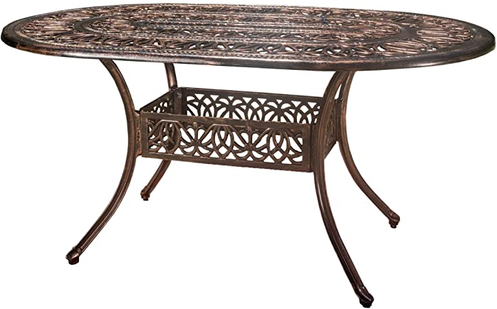 Amazon.com : Christopher Knight Home Tucson Cast Aluminum Dining .