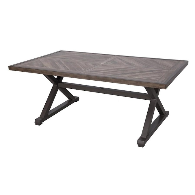 allen + roth - Everett Manor Rectangle Outdoor Dining Table 41.5 .