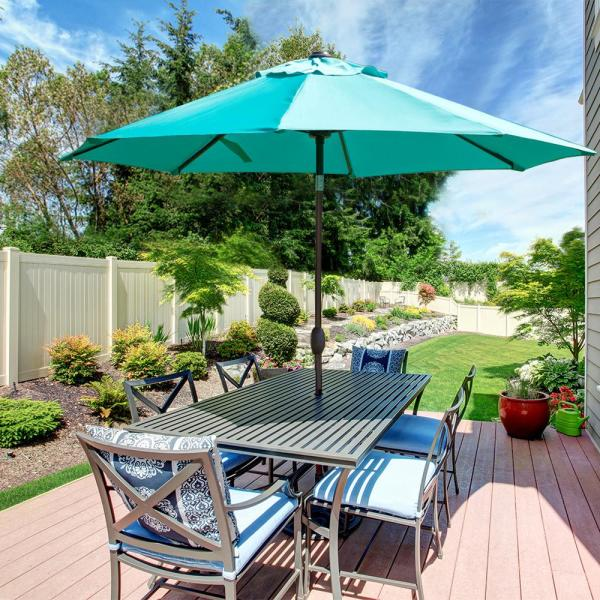 Abba Patio 9 ft. Sunbrella Fabric Outdoor Umbrella with Auto Tilt .