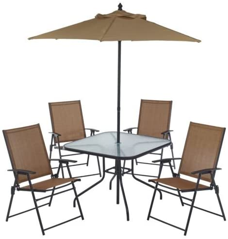 Amazon.com: 6 Piece Outdoor Folding Patio Set - With Table, 4 .