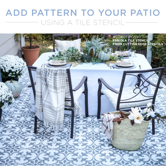 Add Pattern To Your Patio Using A Tile Stencil - Stencil Stori