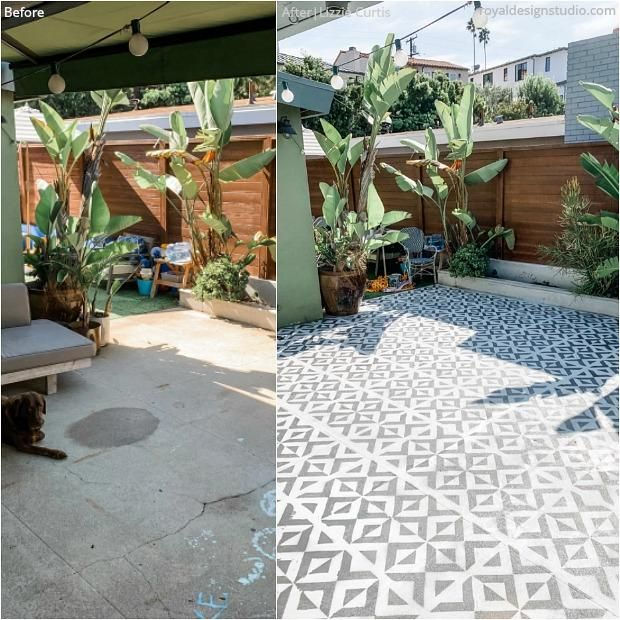 All The Angles Moroccan Wall Stencil in 2020 | Backyard .