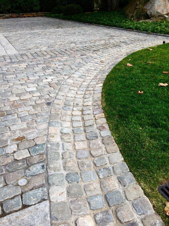 cobblestone patio designs 4 | Cobblestone patio, Driveway .