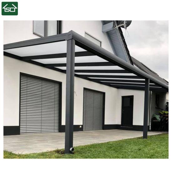 China Aluminium Pergola Profilewith Glass Roof/ Louvered Roof .