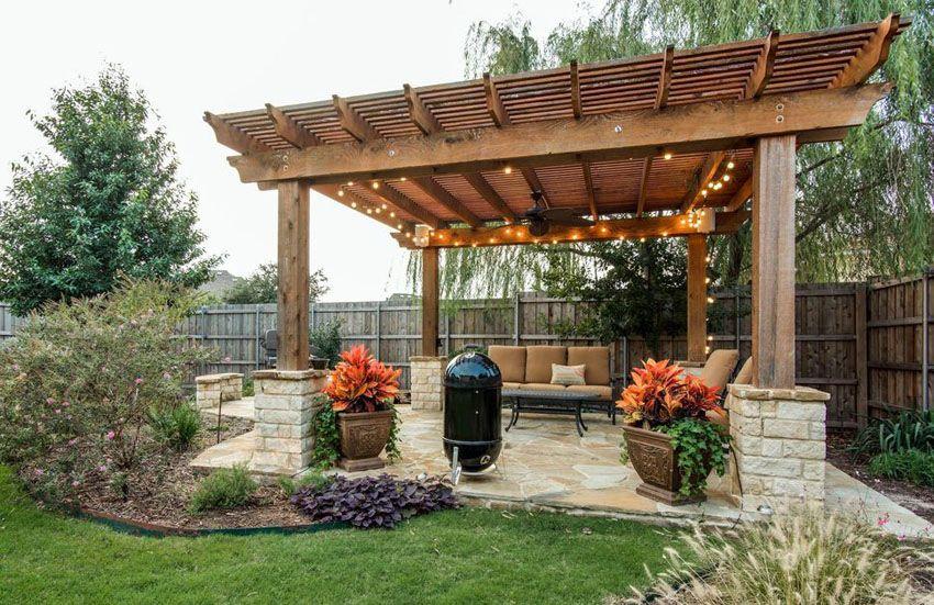 50 Beautiful Pergola Ideas (Design Pictures) | Backyard pergola .