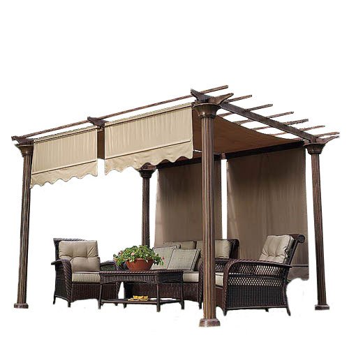 Garden Winds Universal Designer Replacement Pergola Shade Canopy .