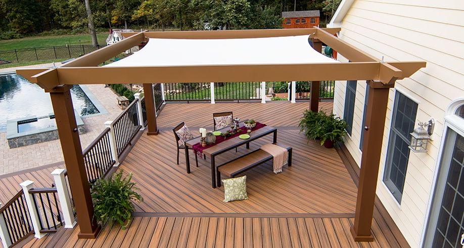 Tensioned Shade Sail Pergola Canopy | Structureworks | Backyard .