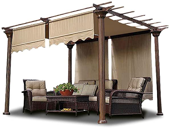 Amazon.com: 2pcs 15.5x4 Ft Pergola Shade Canopy Replacement .