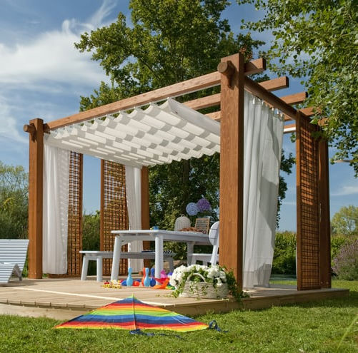 Self-supporting pergola - MINERVA - Pircher Oberland - fir .