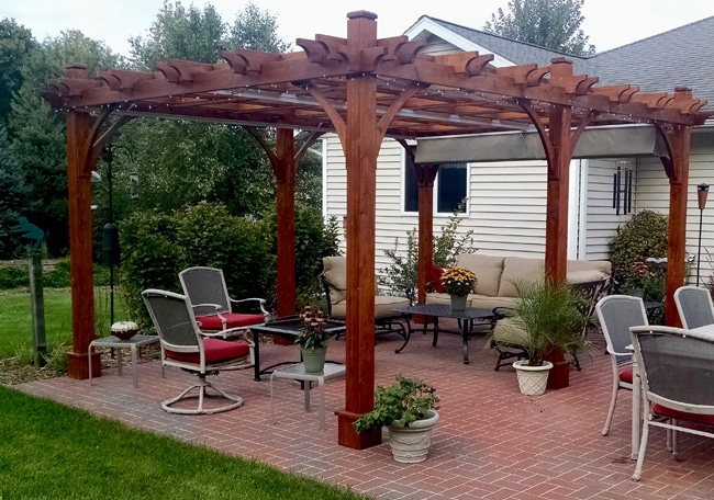 12'x16' Breeze Pergola with Retractable Canopy - Outdoor Living Tod