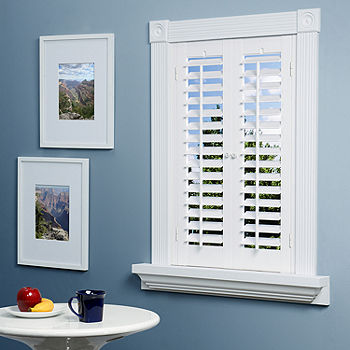 JCPenney Home™ Faux-Wood Plantation Shutters - 2 Pane