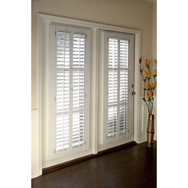 Shop White 2.25-inch Slat Plantation Shutter - Overstock - 260339