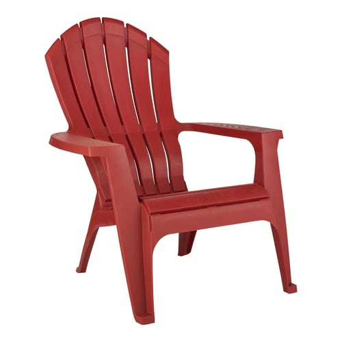 Adams Manufacturing Red Stackable Plastic Stationary Adirondack .