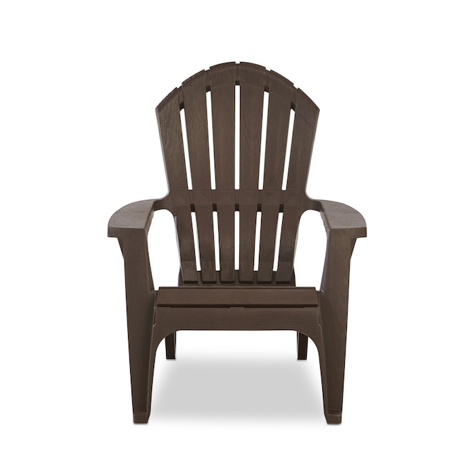 Adams Manufacturing Brown Stackable Plastic Stationary Adirondack .