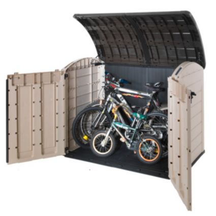 Blooma Oregon 6X4 Plastic Bike Shed - Assembly Required: Image 3 .