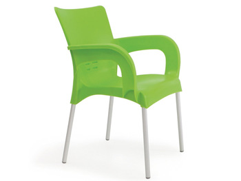 Strong Plastic Garden Chair With Aluminium Legs - Buy Plastic .