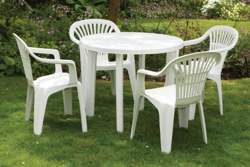 compare Garden Plastic Table & Chairs White Plastic Table 4 Garden .
